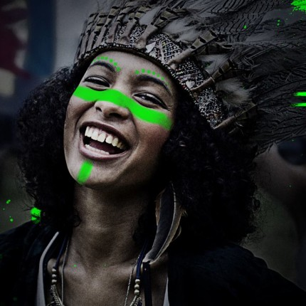Face for Green, a cara pintada de verde por Festivais mais limpos